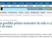 Fabrizio Palenzona (Gemina): perdita primo semestre calo 12,1 milioni euro