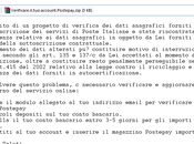 "Attenzione all'email ""Verificare account Postepay"""