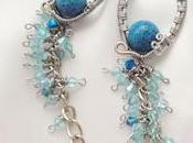 Wire wrapping: Laguna earrings.