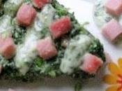 Torta salata prosciutto cotto,spinaci,ricotta salsa gorgonzola