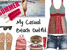 casual beach outfit
