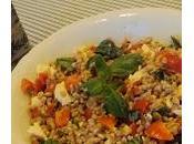 Farro pomodorini, mozzarella basilico