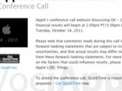 terrà Angeles ottobre conferenza degli investitori Apple