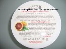 100% Pure: body butter blood orange