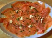 Carpaccio salmone affumicato
