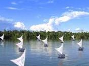 FlowingRiver_RioAmazonas: grande installazione d'arte realizzata, simbolo dello sviluppo sostenibile, navigherà delle Amazzoni