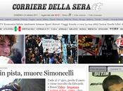 Corriere della Sera preferisce Simoncelli terremoto Turchia