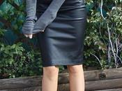 Ladylike Leather Skirt