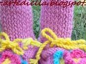 scarpette casa lana suola feltro gomma