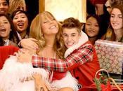 Justin Bieber Mariah Carey sfrattano Babbo Natale centro commerciale
