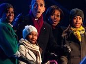 famiglia Obama accende National Christmas Tree