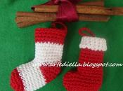 Decorazioni Natale. miniature all'uncinetto cotone calzine natalizie.Video tutorial