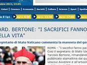 Vaticano approva programma sacrifici governo Monti
