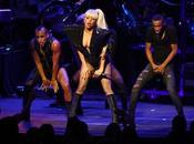 Lady Gaga wears Giorgio Armani last concert Angeles