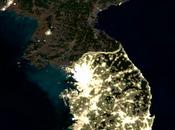paese buio: immagini notturne satellite della Corea Nord