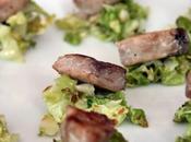 Tocchetti tonno letto verza salsa basilico