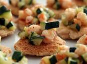 Tartine gamberi zucchine