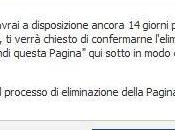 Come eliminare pagina Facebook