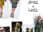 TRENDS Parka worn with high heels