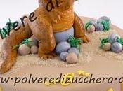 Torta decorata: terribile dinosauro!!