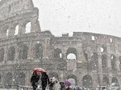 Fittissima nevicata, Roma seppellita chiude uffici pubblici, Colosseo Foro Romano. Sospesa Roma-Inter
