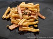 ricetta pasta davvero gustosa: Casarecce mortadella, santoreggia, capperi pistacchi