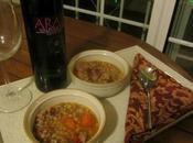 ...zuppa farro salsiccia....